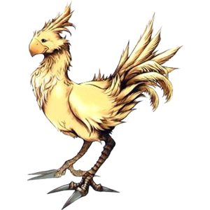 Seriously. This is a chocobo. Where are you going to find something like that in the real world?