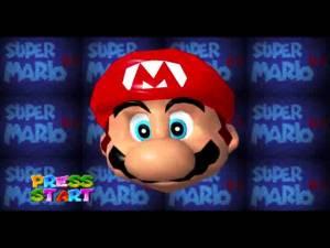 Mario 64 Title